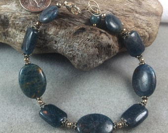 Apatite and Sterling Silver Bracelet