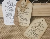 Ring the Bell for Kisses from the new MR and MRS  Personalized Wedding Favor MEDIUM tag choose your amount