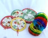 """Chinese Paper Lanterns, Set of 5 Lanterns, 3 1/2"""", 5"""" and 6"""", colorful party lanterns, party decoration, birthday party decor, lanterns"""