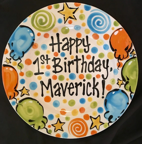 Hand Painted Birthday or Special Day Plate