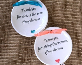 Mother of the Groom Gift, Mother of the Bride Gift - Thank You for Raising the Man of My Dreams, Woman of My Dreams, Wedding Keepsakes