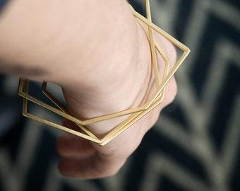 Geometric Bangle, Gold Bangle Bracelet, Thin Gold Bangle, Minimalist Gold Bangle, Stacking Bangle Gold, Modern Gold Bangle, Summer Bangle