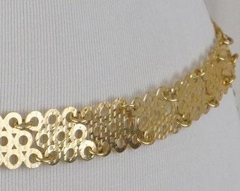 Vintage Metal Goldtone Belt