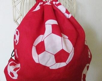 Red Soccer Balls Backpack