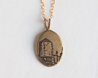 Brooklyn Necklace - Water Tower - Brooklyn Jewelry - NYC Necklace - Water Tower Necklace - New York Jewelry - Brooklyn Charm - Skyline