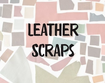 Leather Scraps by the Pound, assorted genuine top grain full grain upholstery leather scraps, leather remnants