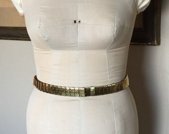 Gold Metal Stretch Belt