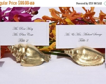20% off ends 5pm Fri. Beach Wedding+ Place Card Holder + Gold Shell Place Card Holders- Set of 100