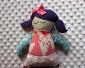 Marilyn Small Handmade Fabric Baby Doll