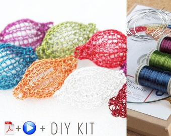 Pixie Beads Wire Crochet Pendant - DIY KIT