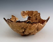 Rustic Oak Burl Wood Turned Bowl - Housewarming Gift - Wedding Gift- Hand Made Wood Bowl