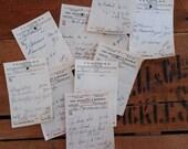 vintage pharmacy prescriptions - hand written - paper ephemera - 15 sheets