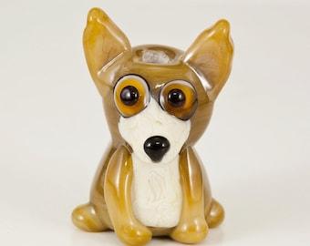 Tan Chihuahua Lampwork Dog Bead