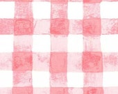 Sarah Jane , Michael Miller Sommer Pre-Sale, Painted Gingham, Pink- 1/2 Yard-Free Shipping in the USA with orders over 50 dollars