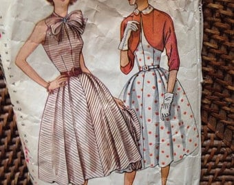1950's simplicity pattern dress w/ bolero jacket