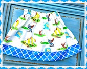 Girls Curious George skirt 12m 18m 2t 3t 4t 5t 6X 7 8 9 10 12 14 16 ready to ship