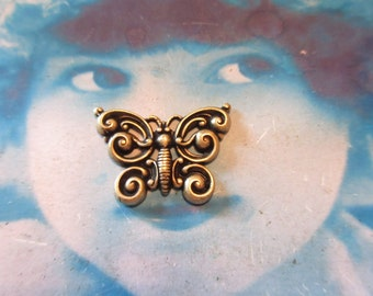 Brass Ox Plated Butterfly Stampings 1167BOX x2