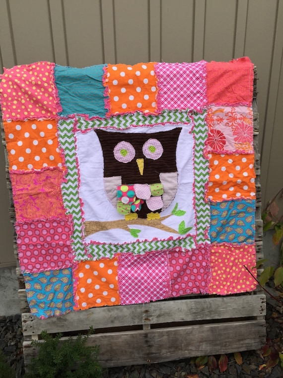 Rag Quilt Owl Pattern : Rag Quilt Pattern with Large Owl Applique by avisiontoremember