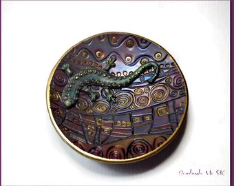 Wedding Ring Holder Handmade Ring Dish polymer clay Bowl Home Decor Ring Dish Faux Raku Ring Dish Bridal Gift