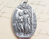 Large Archangel Raphael / Our Lady of Pilar Medal - Antique Reproduction