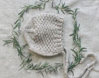 Hand Knit Baby Bonnet