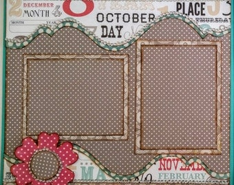 Premade Scrapbook Page 12 x 12 Double Page Layout Just Us