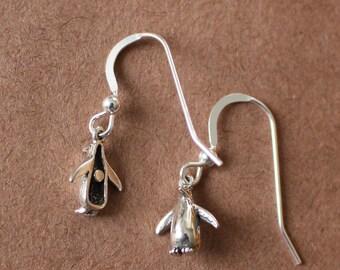 PENGUIN Sterling Silver Earrings  - Birds, Wildlife