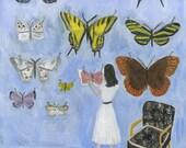 Nabokov's Archives. Original oil painting by Vivienne Strauss.