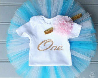 First Birthday Outfit Girl, Turquoise Tutu, 1st Birthday Outfit Girl, Cake Smash Outfit Girl, First Birthday Tutu, Tulle Skirt, Tutu Skirt