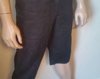 Hermans Hemp Men's 100 percent Hemp M Yoga pants  black shorts