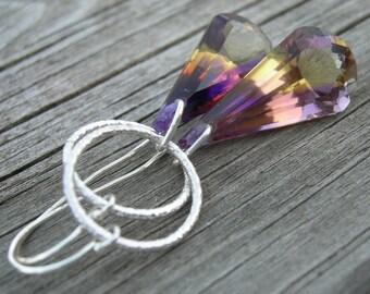Luxe Ametrine Gemstone Earrings Sterling Silver