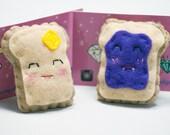 Creepy Cute Breakfast Boos Felt Brooch Plushies