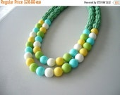 Candy coloblock statement necklace