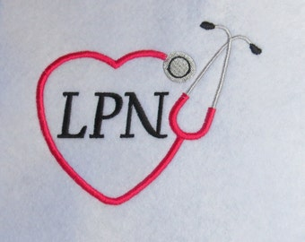 Stethoscope LPN  Embroidery Designs -3 Sizes  - Custom REQUEST WELCOME