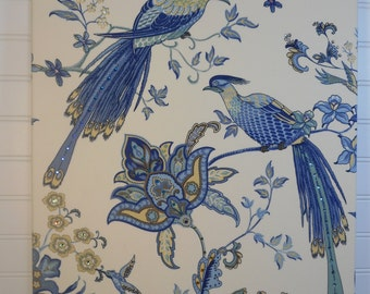 Swarovski Crystals Embellished Fabric Wall Art - Nature with 2 Birds