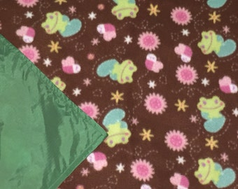 Picnic Blankets - Waterproof Picnic Blankets - Frogs and Flowers