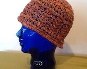 Self-Shaping Lace Beanie Knitting Pattern