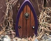 Faerie doors, Fairy Doors, Gnome Doors, Elf Doors, 5.5 inch, purple frame