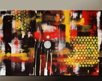 Abstract Canvas Art Painting 36x24 Original Contemporary Wall Art by Destiny Womack - dWo -  Random Acts IV