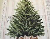 "RARE Michael Miller ADORN Me Panel CHRISTMAS Tree Cotton Quilt Fabric - Approx. 45"" long x 24"" wide - Now Out of Print"