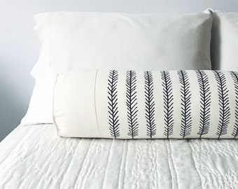 FEATHER BOLSTER - decorative - interior design - home staging - decor - home decor - lumbar -simple - modern - throw - usa made