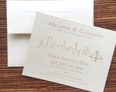 San Francisco Wedding Save The Date / Birthday Party or Shower Invitation