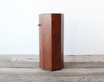 Mid Century Modern Octagon Wooden Umbrella Stand