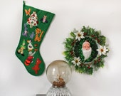 Vintage 1960s Handmade Christmas Stocking