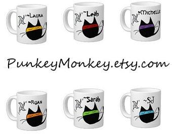 Ninja mug 20 ounce Ninja Kitty mug sublimation mug coffee mug tea mug giant xl mug ceramic mug personalized mug kitty cat ninjas super mug