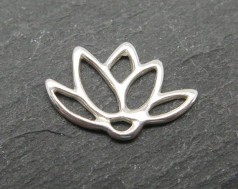 Sterling Silver Lotus Connector 14mm (CG7650)