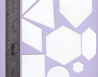Shapes  templates - 10 templates - card making, scrap booking, crafting