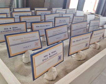 Nautical Compass Wedding Place Cards Deposit