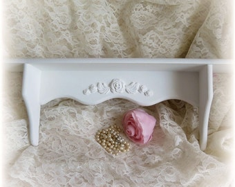 Shabby Chic Roses Wood Wall Shelf Clay Roses So Cute