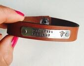 Medical Alert Bracelet, Leather Medical Alert Bracelet, Leather ID Bracelet, Medical ID Bracelet, Mens Leather Bracelet